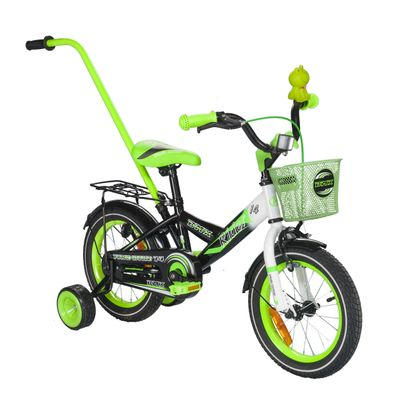 "CHILDREN'S BICYCLE 14"" RIDER GREEN / WHITE"