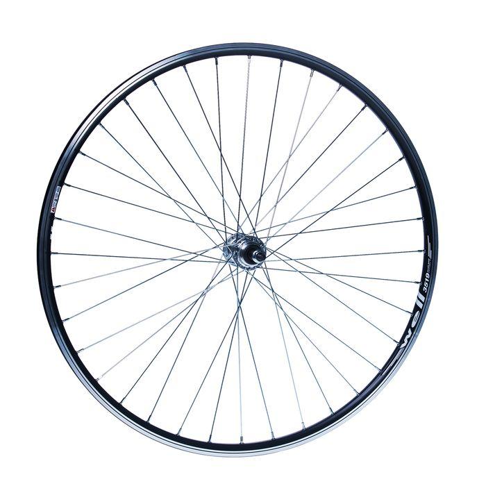 "REAR  WHEEL  REMERX WELL 28"" HUB JOYTECH ( for freewheel )  / 36-holes Black colour"