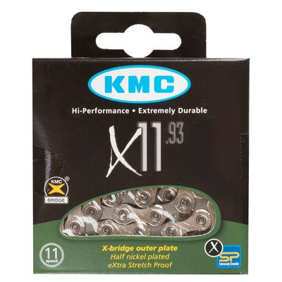 CHAIN KMC X-11-93 -  11 -speed /114 - links. Colour Silver / Gray
