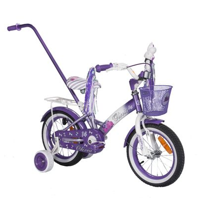 "CHILDREN'S BICYCLE 14"" OLIVIA Col. White / Purple"
