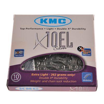 ŁAŃCUCH KMC X-10-EL-SILVER-114 OG.-10-BIEGÓW-SREBR