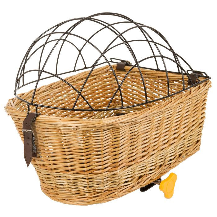 WICKER BASKET FOR A BICYCLE LUGGAGE FOR CATS AND DOGS