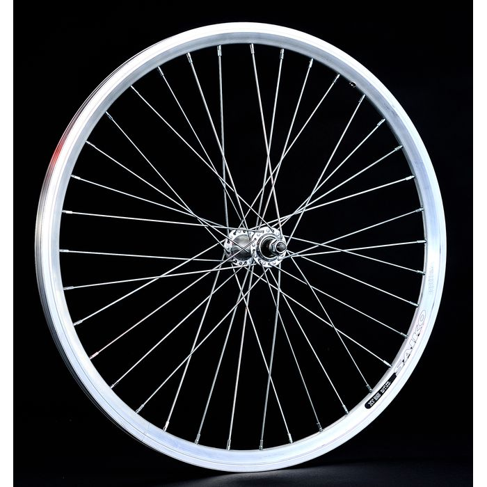 "FRONT WHEEL  -24"" RIM SAIKO CONICAL mounting on nutw- Silver colour"