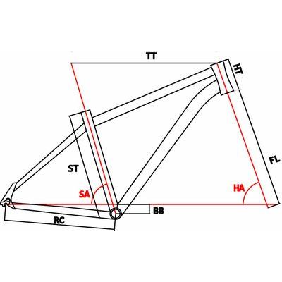 Geometria ROWER SZOSOWY MOSSO 720TCA SHIMANO SORA 2x9 Kol. Biało /szary / czerwona linia.