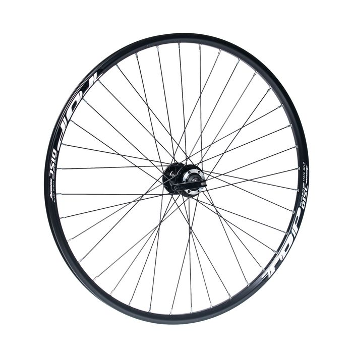 "FRONT WHEEL  REMERX TOP DISC 27,5""/650B HUB JOYTECH (Disc mounting 6 screws  / 36-holes Black colour"