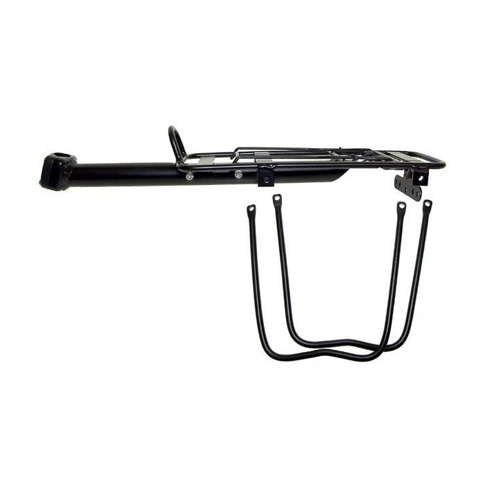 ALUMINUM CARRIER  MOUNTED TO SEAT POST  ( 25,0 -31,8) WITH  MOUNTING, POSSIBILITY OF MOUNTING TRAVELING BAGS