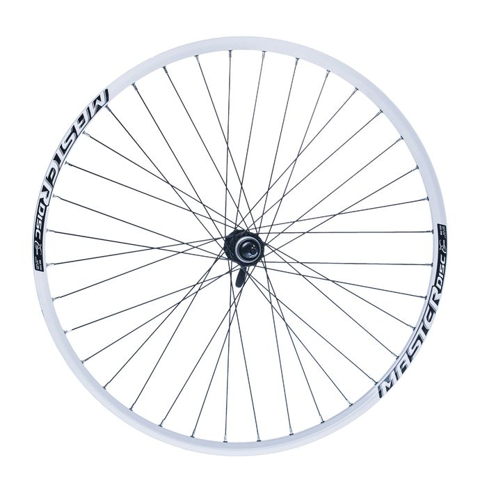 "FRONT WHEEL  REMERX MASTER DISC 28""-29"" HUB  SHIMANO ACERA- HBRM66 (disc mounting :Center lock) 36-holes  White colour"