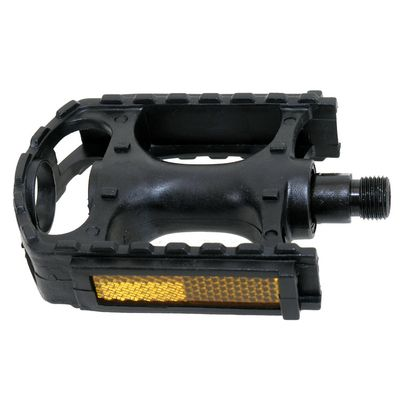 PEDALS  MTB PLASTIC  BLACK WITH REFLECTION