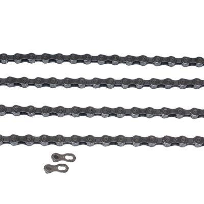 ŁAŃCUCH KMC X10-EPT- 116 ogniw / 10-rzędowy+spinka CL-559R EPT  - Kol. Ciemno Srebrny