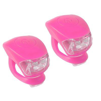 Zestaw Lampek Rowerowych Cobra IV - Różowe