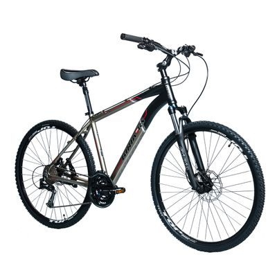 "BICYCLE   BIRIA 28"" CROSS MEN"" S -ACERA/ALIVIO 3x8-HYDRAULIC BRAKES  Matt Graphite / Matt Black / Red Line"