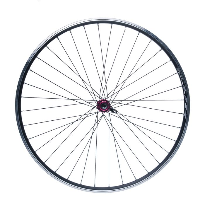 "FRONT WHEEL REMERX HIT 28"" HUB  JOYTECH-RED/ 36-holes Black colour"