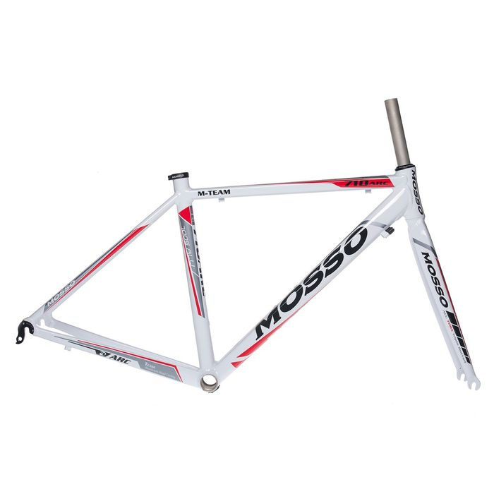 FRAME ROAD MOSSO 710ARC with ALUMINUM FORK   Size:460mm  White / Gray / Red Line