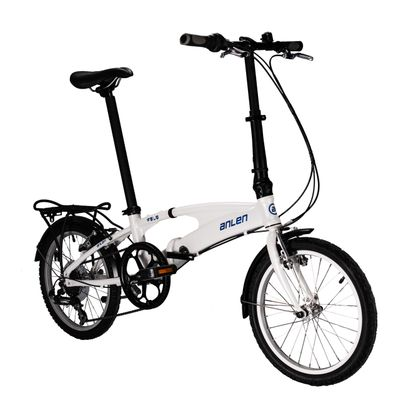 "FOLDING BICYCLE  ANLEN -18"" SHIMANO / TOURNEY   6-   SPEEDS WHITE"