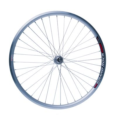 "REAR WHEEL  -28"" RIM  REMERX GRAND ROCK  Silver colour  -HUB  JOYTECH- (for freewheel : 6,7 speed)."