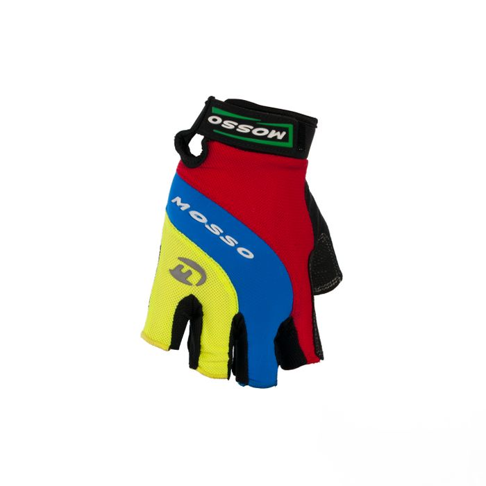 BICYCLE GLOVES MOSSO GL-01 Col.Red / Blue / Green