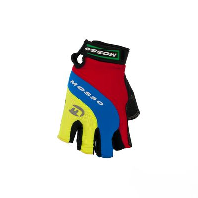 BICYCLE GLOVES MOSSO GL-01 Col. Red / Blue / Green - Size: L