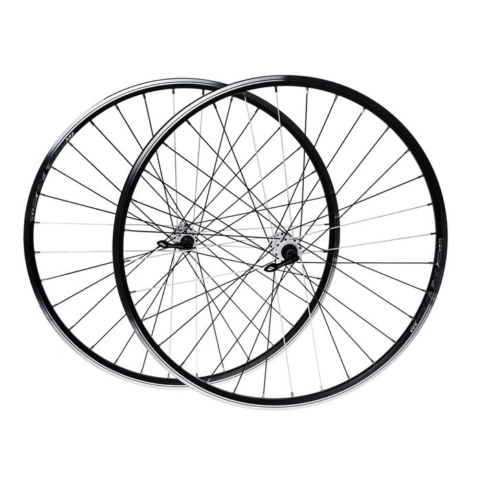 "WHEEL SET 28"" for brake:  V-BRAKE. HUB  NOVATEC RIM  REMEX DRAGON RMX L 719 (white spokes   -8 )"