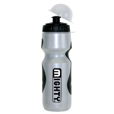 BIDON PLASTIC 650-700 ml WITH CAPSLE - SILVER / BLACK