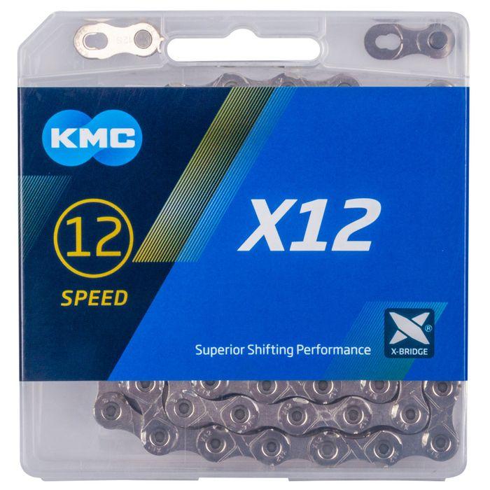 ŁAŃCUCH KMC X12-126 OGNIW - SREBRNY - 12 BIEG.