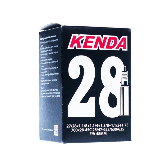"""TUBE  """" KENDA"""" MOLDED 28"""" 28 / 47 - 622 / 630 / 635 ( 28/45 700C ) VALVE  : """"SV"""""""