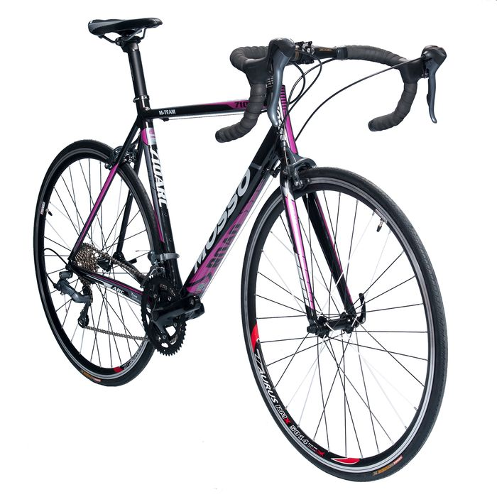 ROAD BICYCLE MOSSO 710ARC SHIMANO CLARIS 2x8  White / Gray / Pink Line