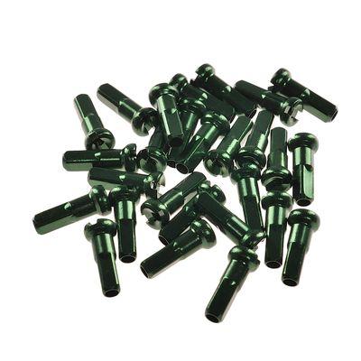 Nyple 2,0mm / 14 mm ALUMINIOWE - CN SPOKE  ( opak. -100 szt.) - Zielone