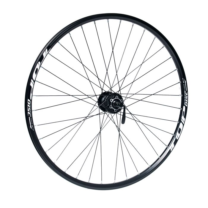 "FRONT WHEEL REMERX TOP DISC 27,5""/650B HUB  SHIMANO HBM475 (Disc mounting 6 screws) /36 holes Black Colour"