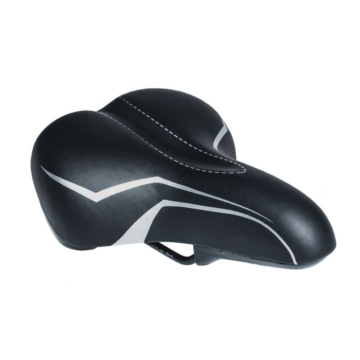 SADDLE M-WAVE MOD.6810-16 ELASTOMER Black colour