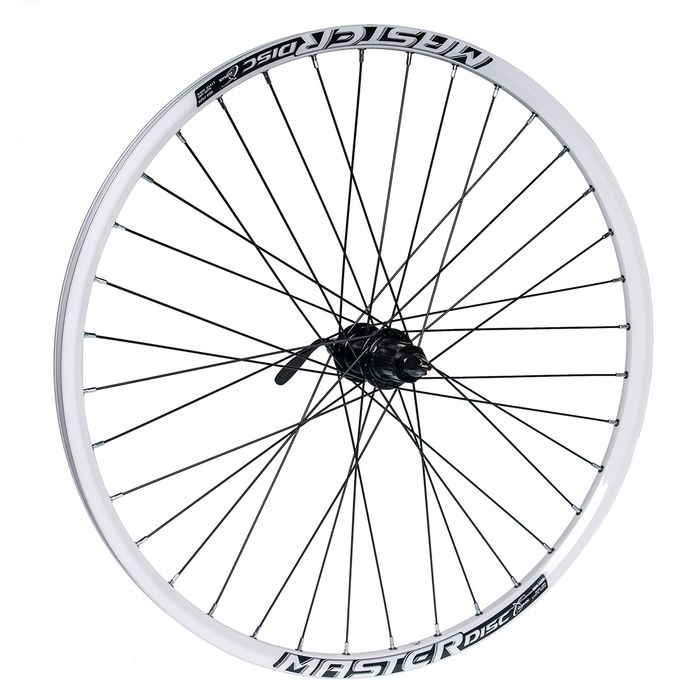 "REAR WHEEL  26""P.ACERA-DISK BLACK - RIM  MASTER DISC-WHITE"