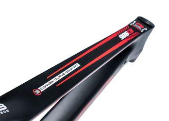 """RAMA MTB-29 CARBON MOSSO-986-17"""" (43 cm) -Czarny mat/Czerwony mat."""