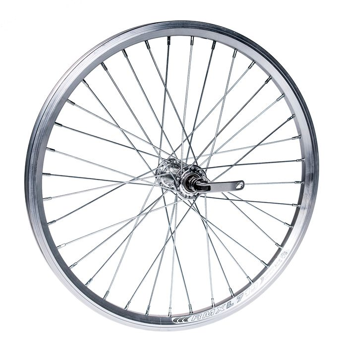 "FRONT WHEEL -20"" RIM REMERX DRAGON L-719 mounting for quick release -Silver colour"
