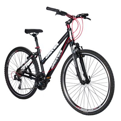 BICYCLE  BIRIA CROSS - ACERA / ALIVIO 3 x 8 Matt Black / Red Line