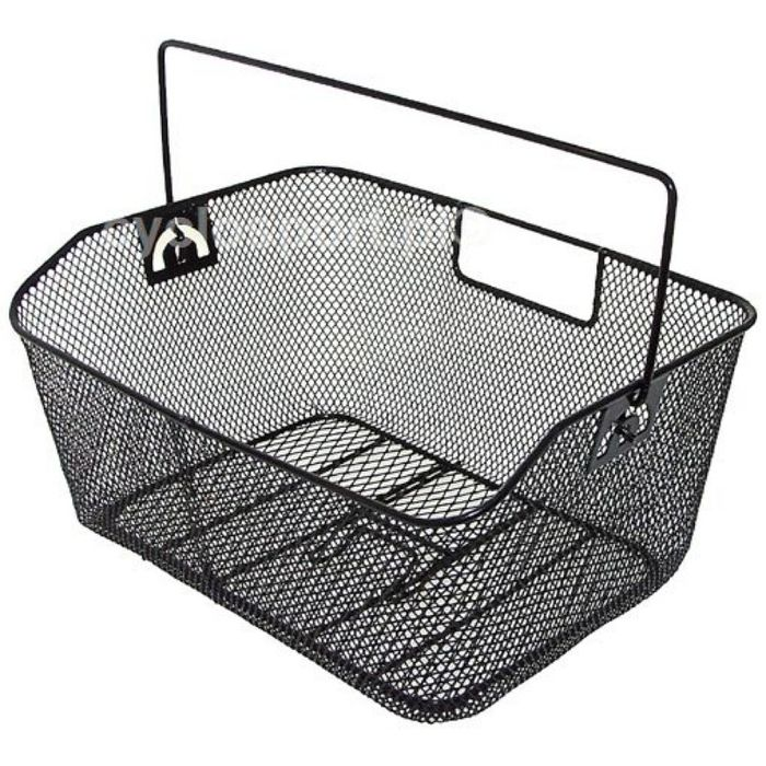 METAL BASKET  MOUNTED FOR TRUNK SIZE . 40 x 30 x 18 x15cm  BLACK