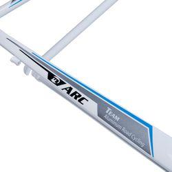 RAMA SZOSOWA MOSSO 710ARC Z WIDELCEM ALUMINIOWYM Rozmiar:550mm Kol.Biało / szary/ niebieska linia.