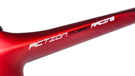 RAMA WYŚCIGOWA CARBON MOSSO MOD. 760CB  - (520 mm) Kol.Czarny mat /Cadmium czerwony mat.