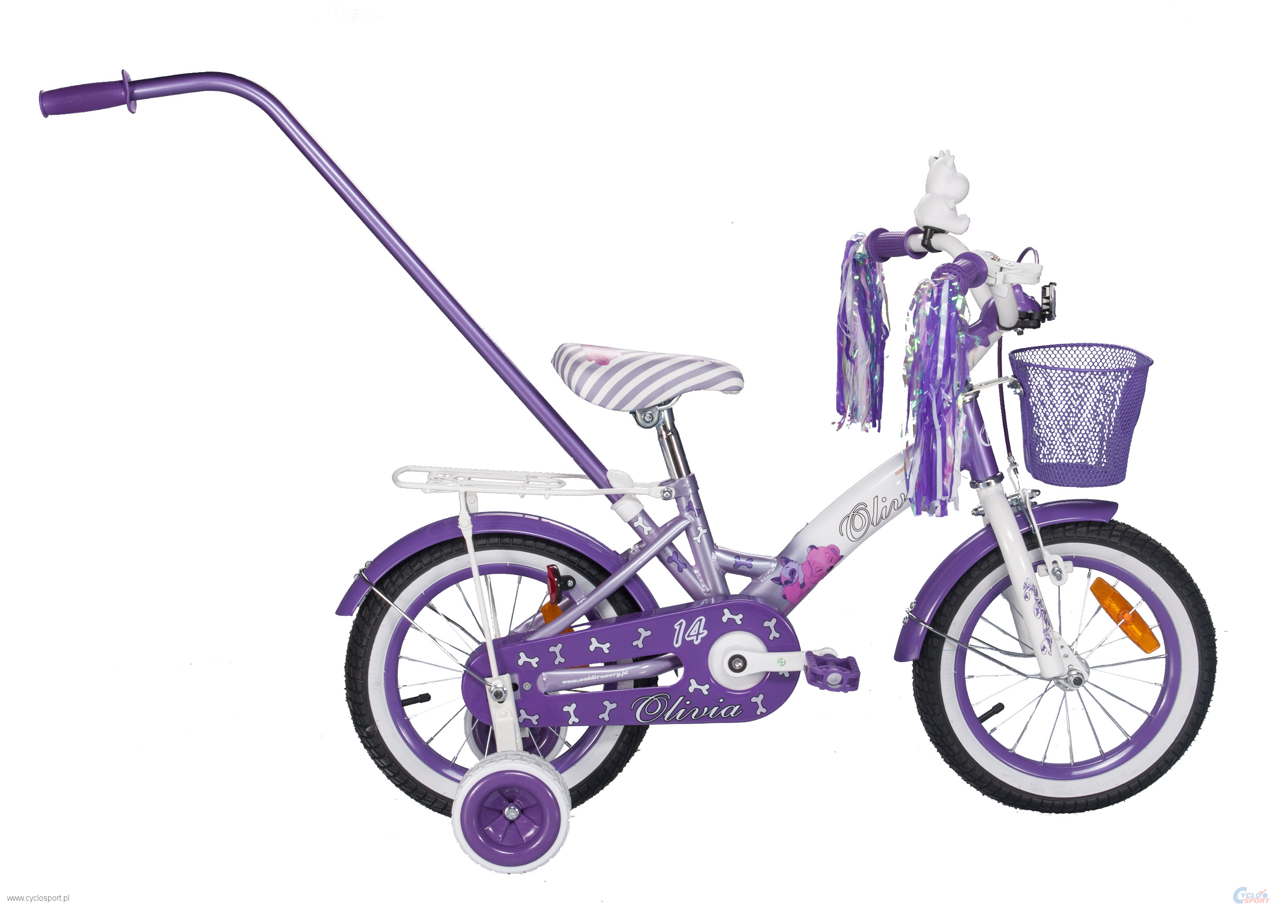 Children S Bicycle 14 Quot Olivia Col White Purple Rower 103c