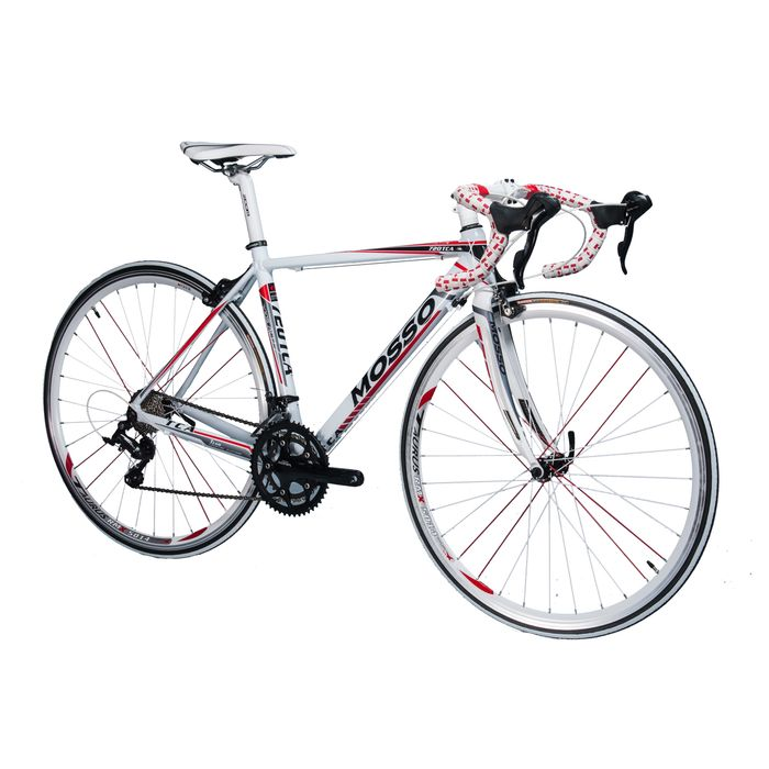 ROAD  BICYCLE MOSSO 720TCA SHIMANO SORA 2x9 White / Gray / Red Line