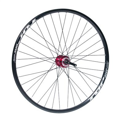 "FRONT WHEEL  REMERX TOP DISC 27,5""/650B HUB JOYTECH (Disc mounting 6 screws ) / 36  holes. Black colour"