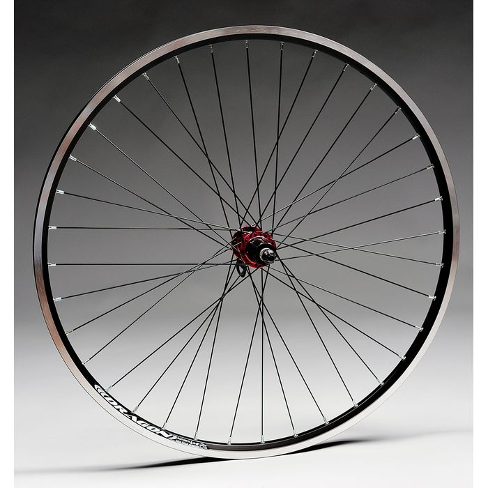 "WHEEL  28""P.NOVATEC RED -36-8/9.O.DRAGON-BLACK BACK"