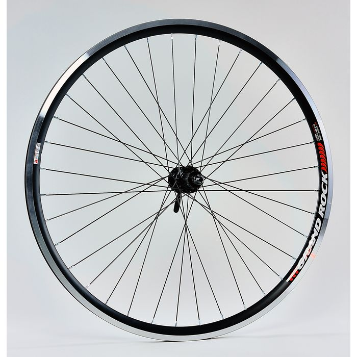 "BACK WHEEL  28"" RIM REMERX GRAND ROCK Black colour  HUB  SHIMANO- FH-RM 70"