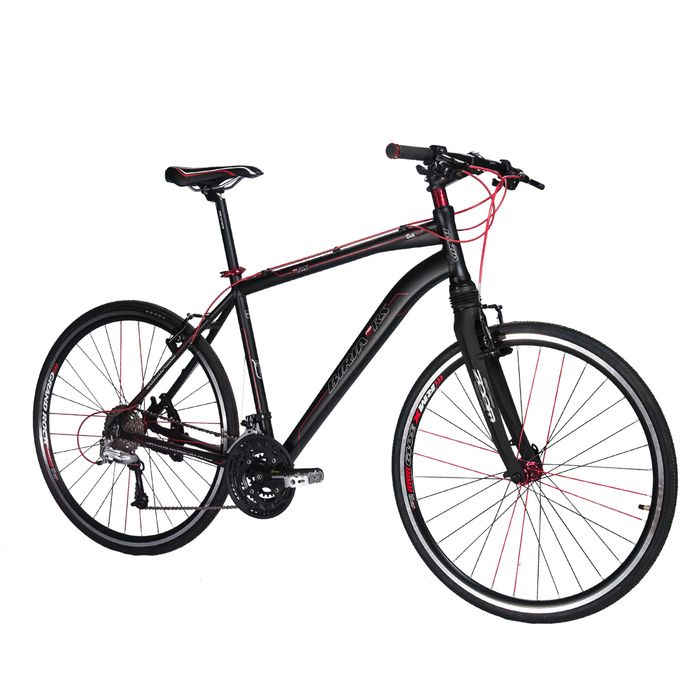"BICYCLE  28""BIRIA FITNESS-MEN'S -ALIVIO/DEORE -3x9-ALUMINUM FORK WITH SESPENCION  Matt Black"