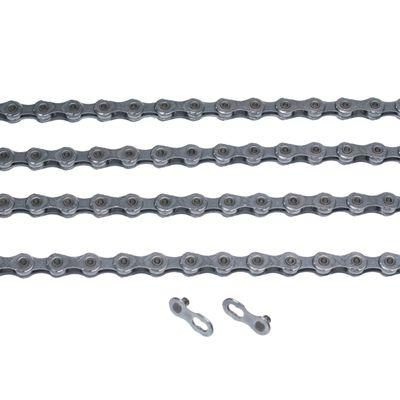 ŁAŃCUCH KMC X11-EPT- 118 ogniw / 11- rzędowy + spinka CL-555R EPT  - Kol. Ciemno Srebrny
