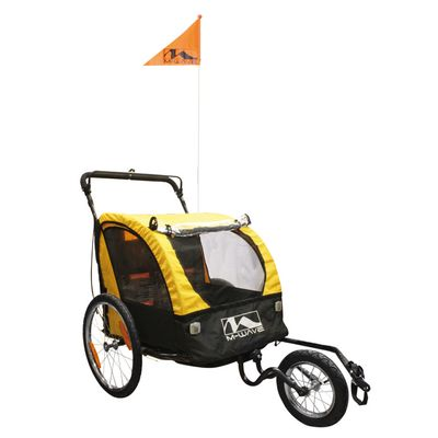 "CHILDREN , LUGGAGE AND JOGGING BICYCLE TRAILER / VAN ""KIDS RIDE 3 IN 1"""