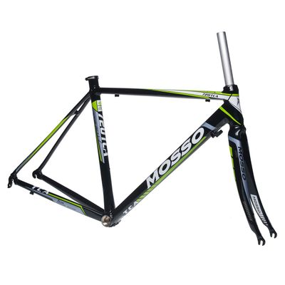 FRAME  ROAD MOSSO 720TCA with CARBON FORK   Size :510mm  Black / White Line  / Green Line