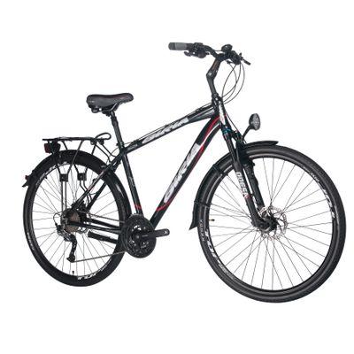 TREKKING BICYCLE  BIRIA SHIMANO ALIVIO-3x9  BLACK MATT/ RED LINE