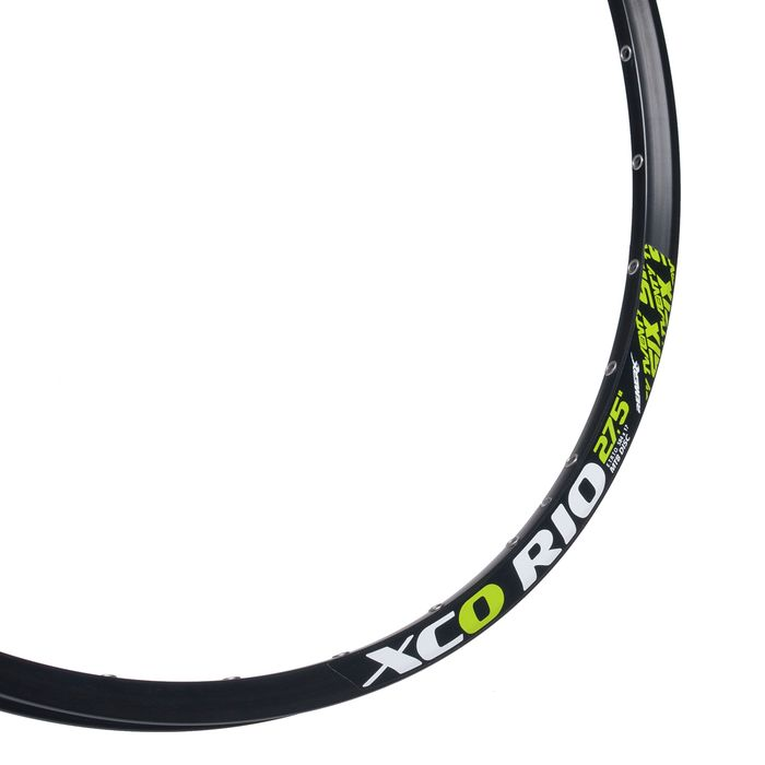 "RIM REMERX XCO RIO - 27,5"" (584 x 17) – 32 holes, Black/ Green sign, for DISC BRAKE"