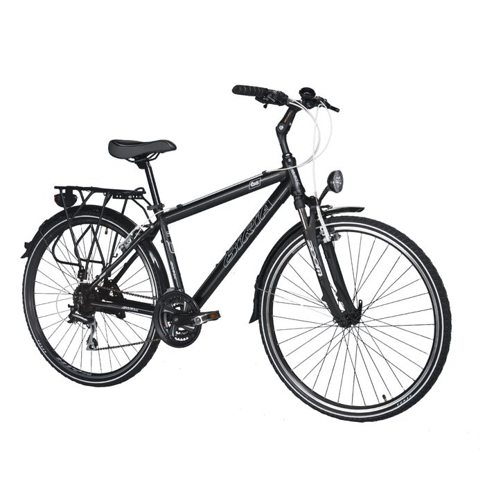 TREKKING MEN'S BICYCLE  - SH.TX/ACERA-3x8-MATT BLACK