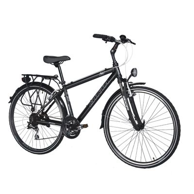 TREKKING MEN'S BICYCLE  - SH.TX/ACERA-3x8-MATT BLACK