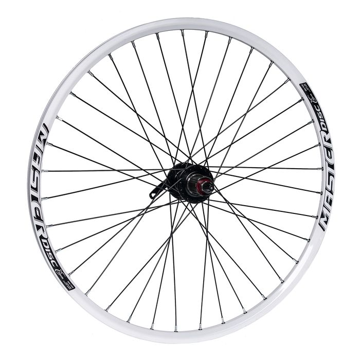 "REAR WHEEL  26""P.JOYTECH-DISK  RIM MASTER DISC-WHITE"